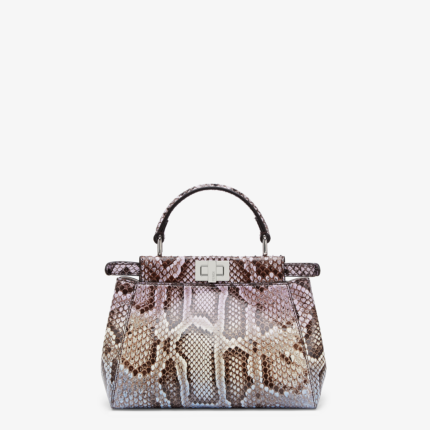FENDI PEEKABOO ICONIC MINI - Python leather bag with graduated colors - view 3 detail