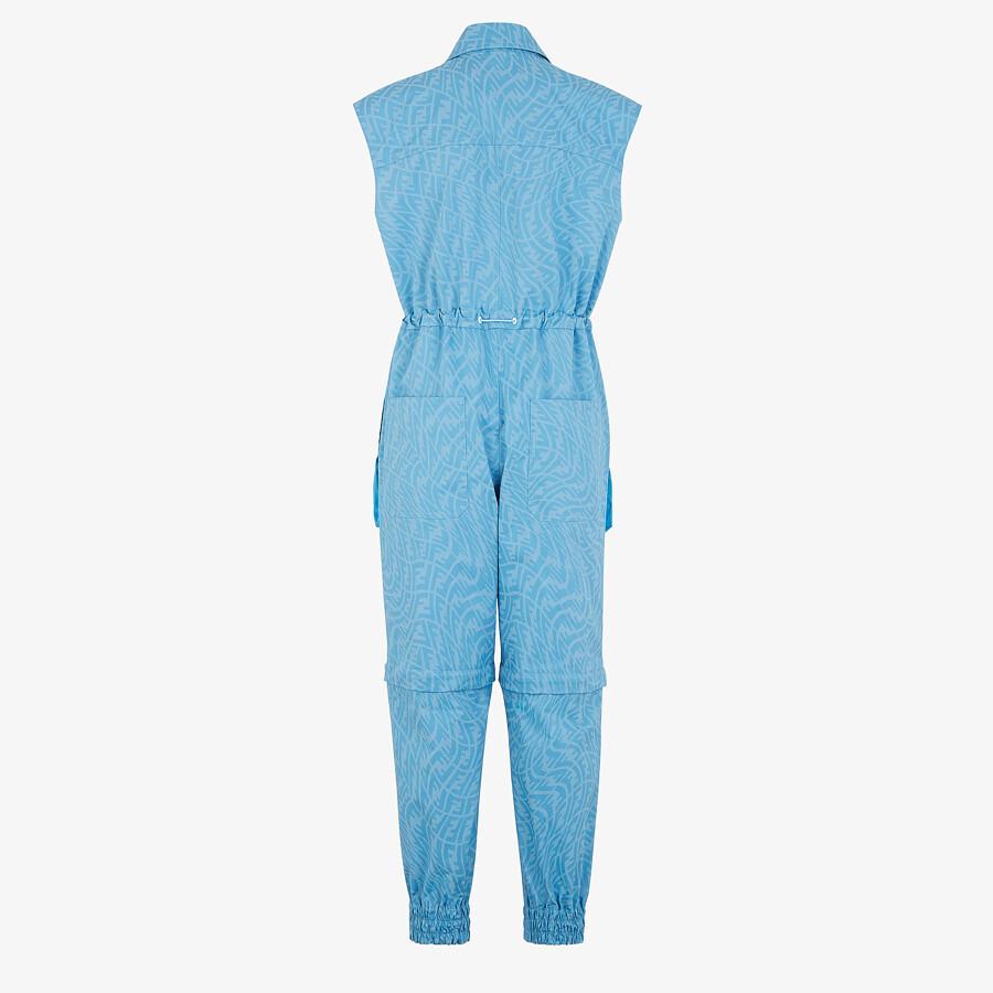 FENDI JUMPSUIT - Light blue denim jumpsuit - view 2 detail
