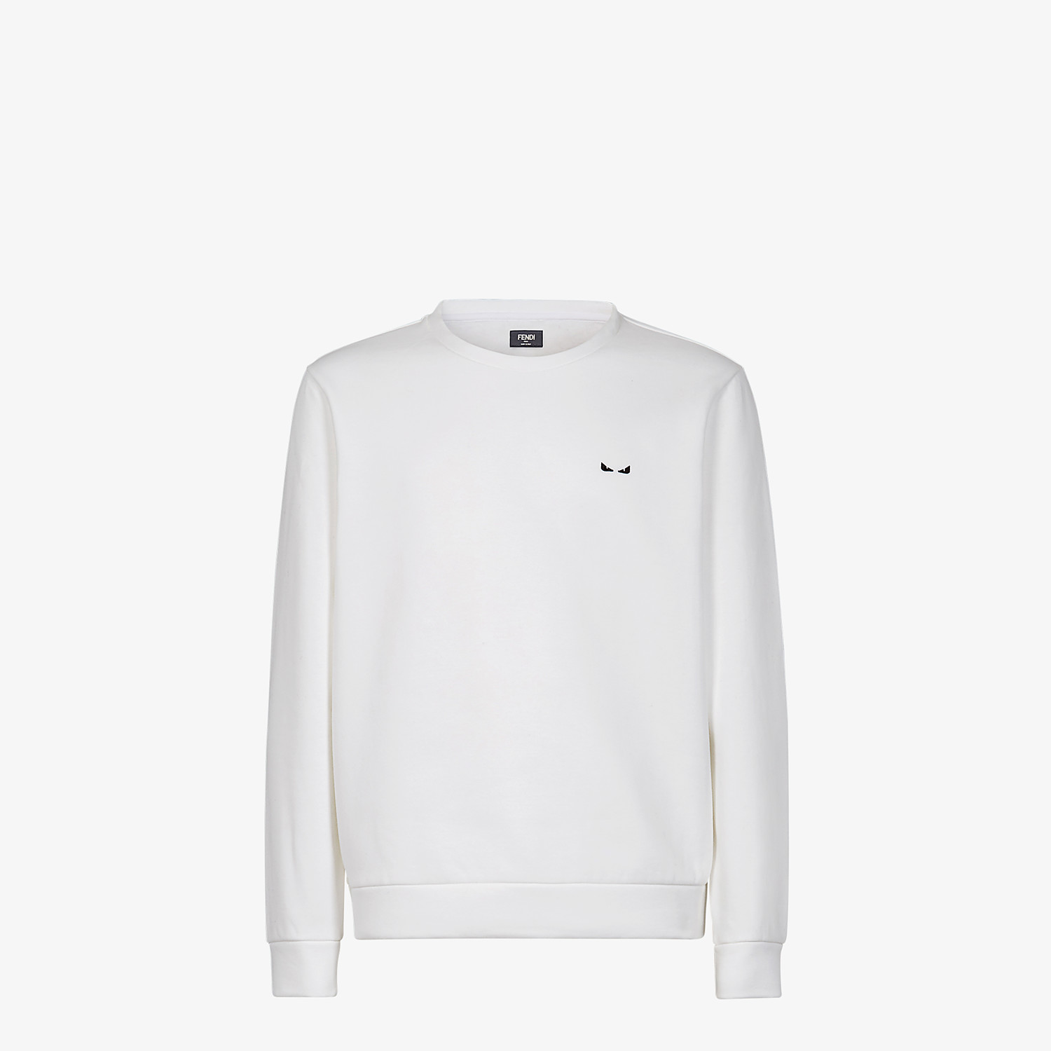 FENDI SWEATSHIRT - White cotton sweater - view 1 detail