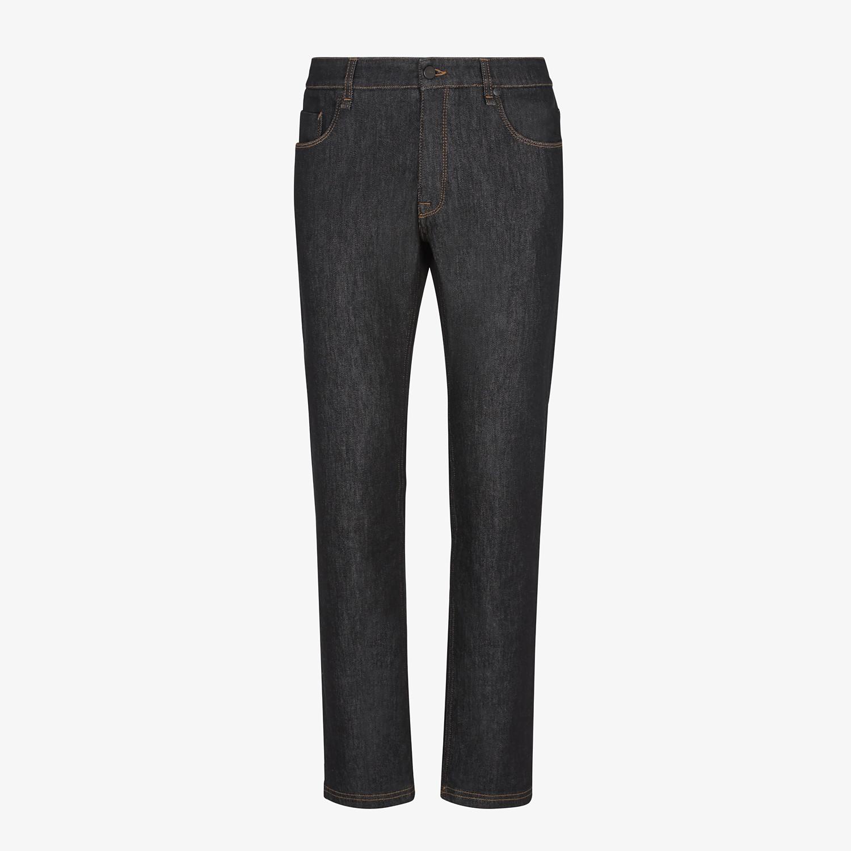 FENDI DENIM - Jeans in denim nero - vista 1 dettaglio