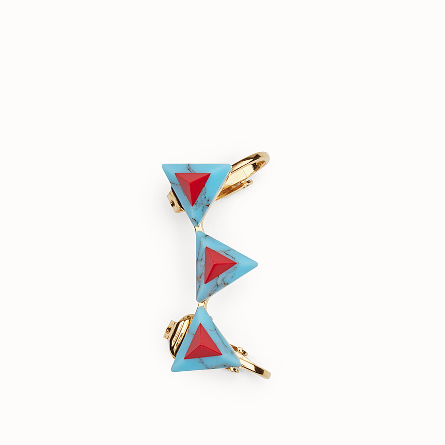 FENDI RAINBOW EARRINGS - Earrings with rainbow stones - view 2 detail
