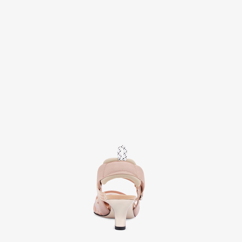 FENDI SLINGBACK - Colibrì in rete rosa e pelle nude - vista 3 dettaglio