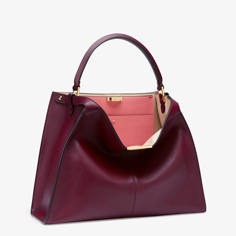 FENDI PEEKABOO X-LITE LARGE - Burgundy leather bag - view 4 detail
