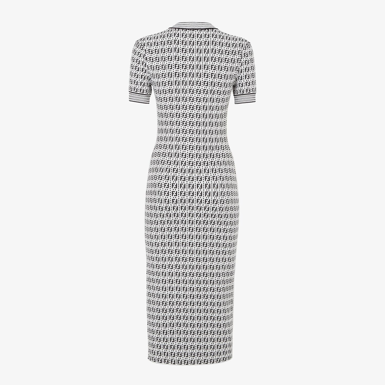 FENDI DRESS - White viscose dress - view 2 detail