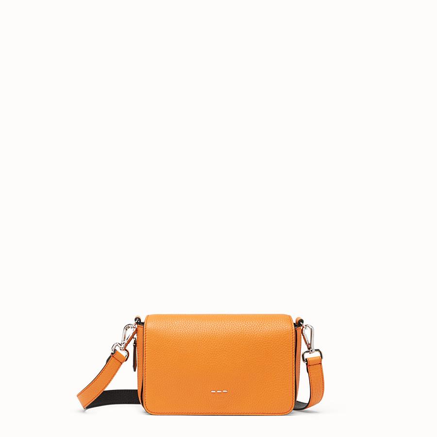 FENDI FLAP BAG - Borsa in pelle arancione - vista 1 dettaglio