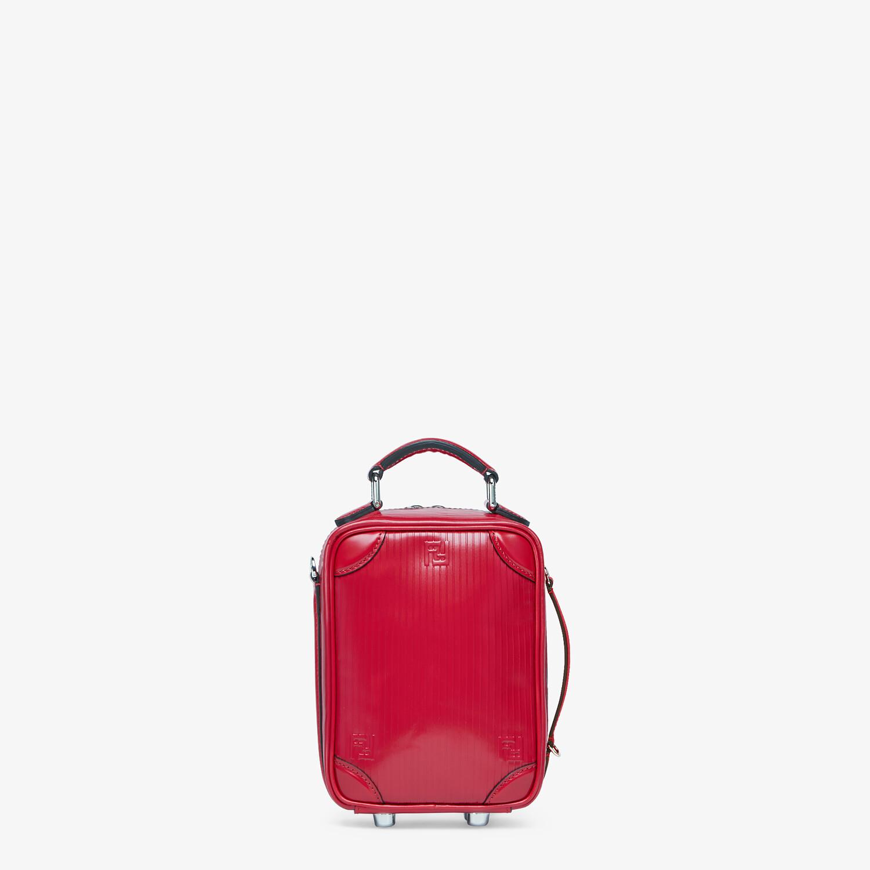 FENDI TRAVEL MINI BAG - Red leather bag - view 3 detail