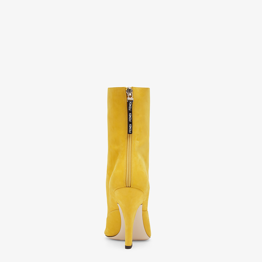 FENDI STIEFELETTE - Boothie aus gelbem Nubuk - view 3 detail