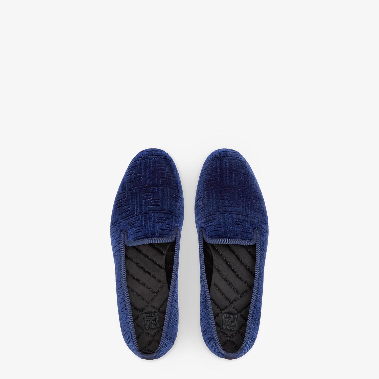 FENDI SLIPPERS - Blue velvet slippers - view 4 detail