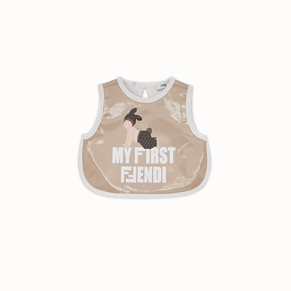 FENDI BIB - Beige cotton bib - view 1 small thumbnail