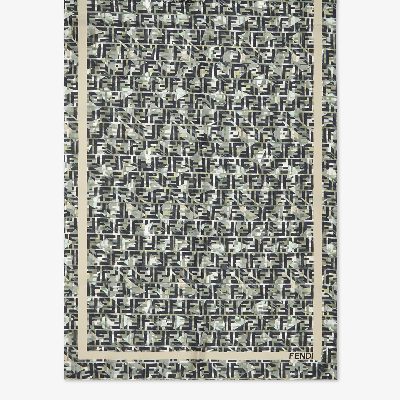 FENDI STOLE - Multicolour silk stole - view 1 detail
