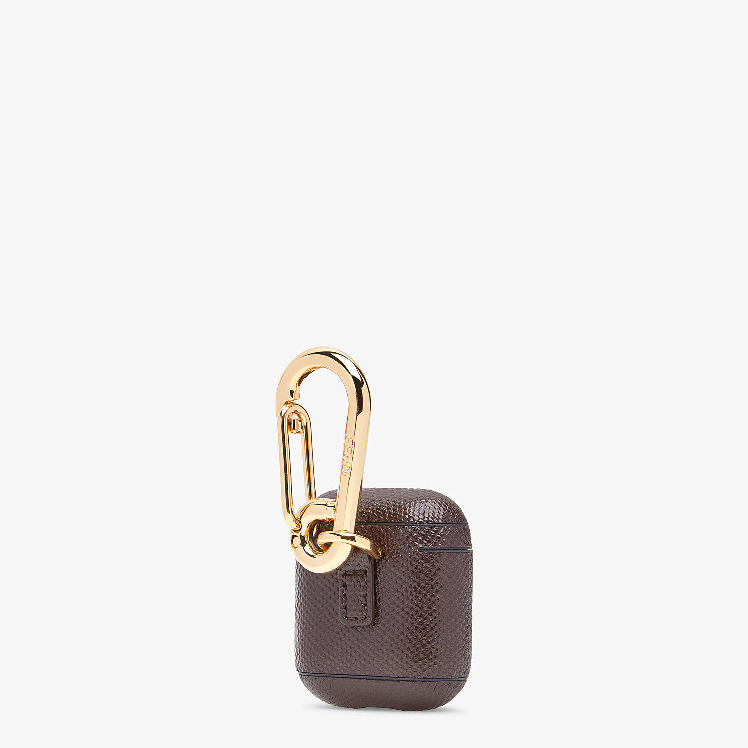 FENDI HEADPHONE HOLDER - Headphone holder in brown karung - view 2 detail
