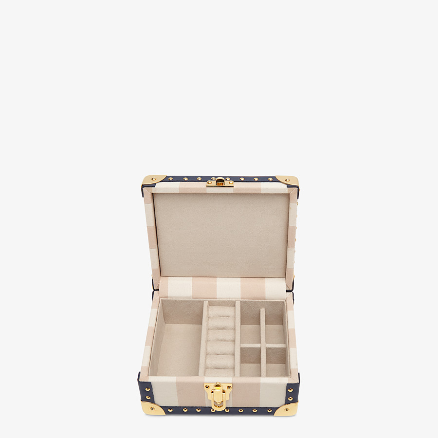 FENDI TRAVEL CASE SMALL - Travel case in multicolor jacquard - view 2 detail