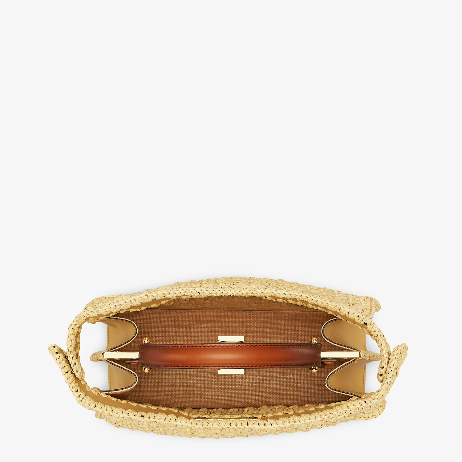 FENDI PEEKABOO ISEEU MEDIUM - Woven straw bag - view 7 detail