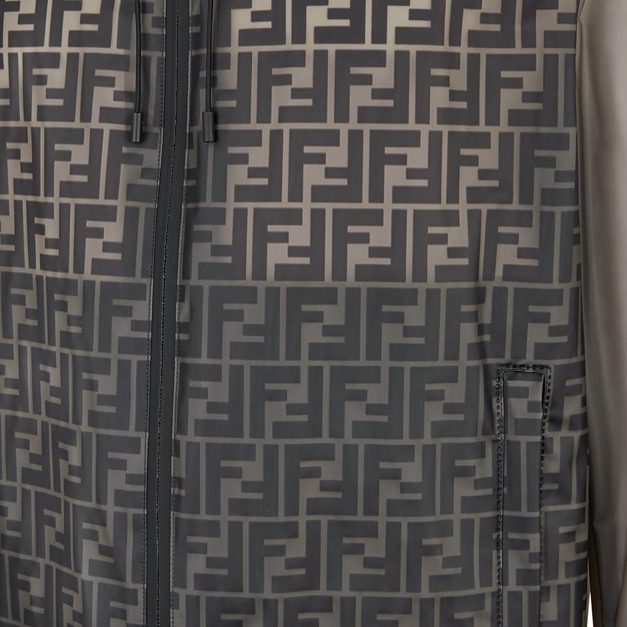 FENDI WINDBREAKER - Grey nylon windbreaker - view 3 detail