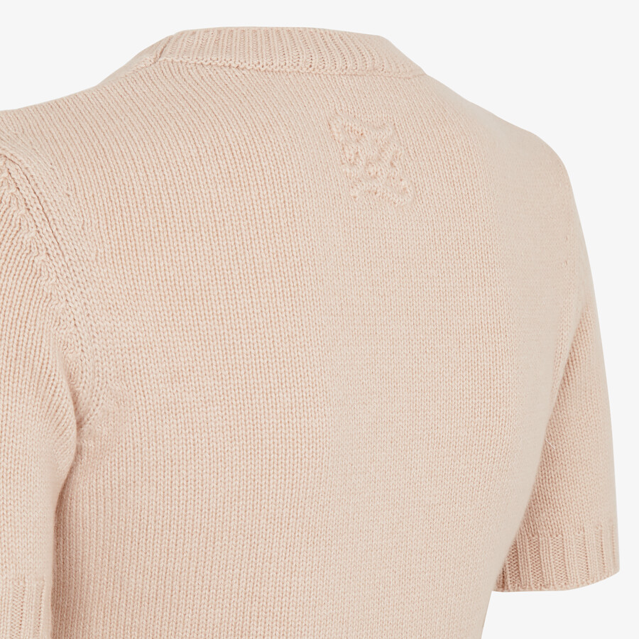 FENDI PULLOVER - Pink cashmere jumper - view 3 detail