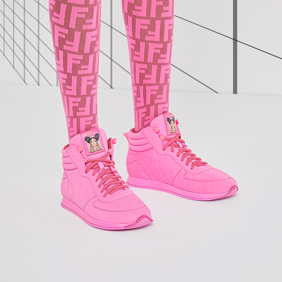 FENDI SNEAKER - High top Fendi Prints On in Lycra® - vista 5 dettaglio