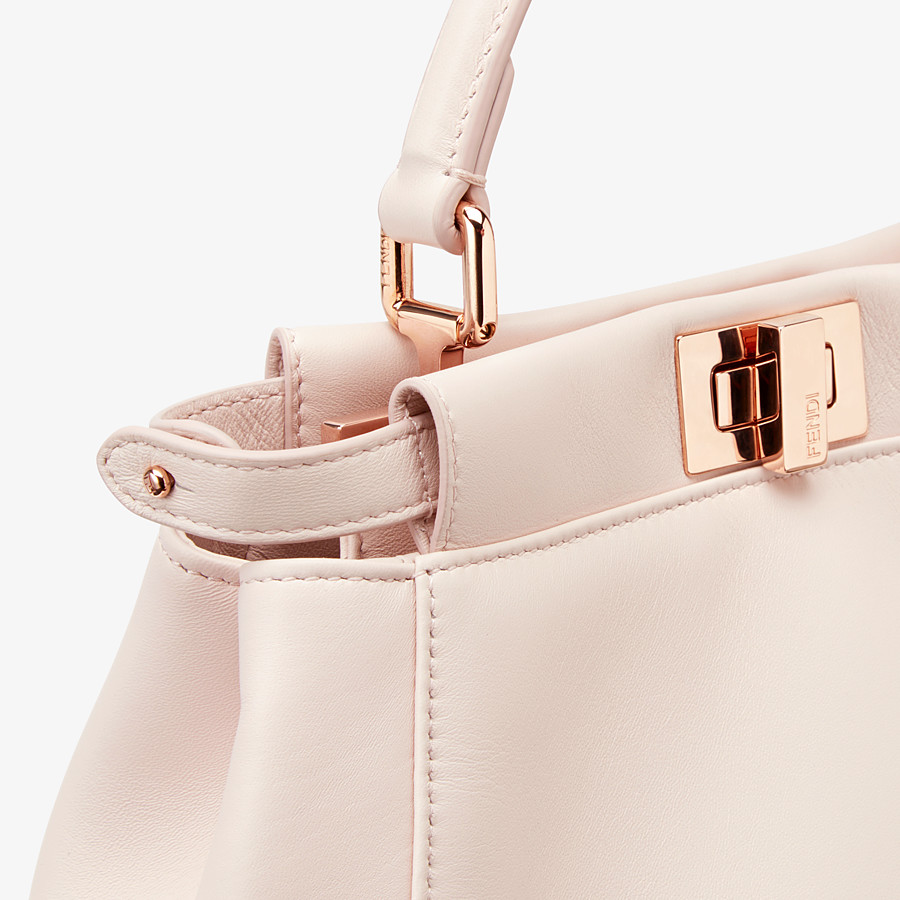 FENDI PEEKABOO ICONIC MINI - Pink leather bag - view 5 detail