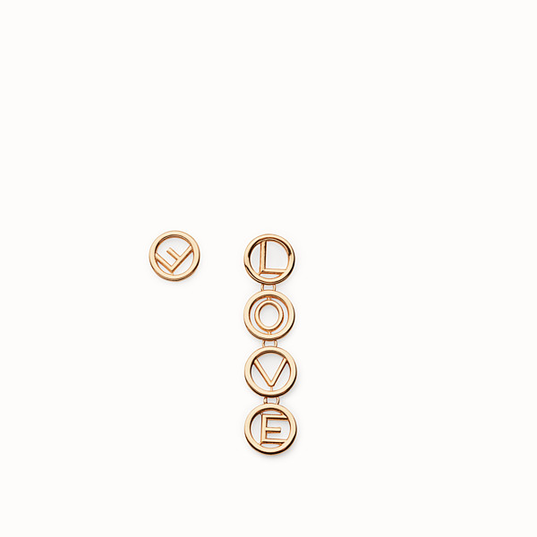 FENDI F IS FENDI EARRINGS - Set of gold colour earrings - view 1 small thumbnail