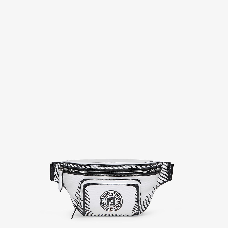 FENDI BELT BAG - White canvas belt bag - view 1 detail