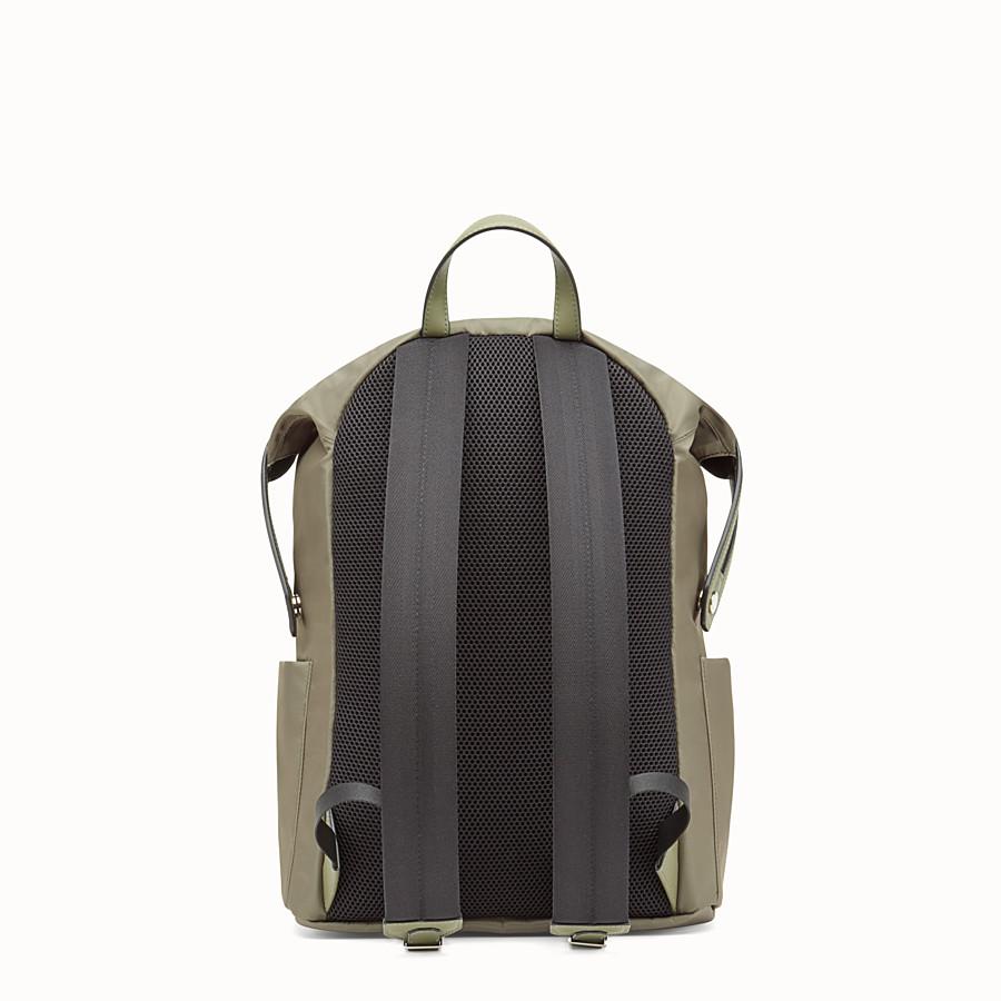 FENDI 背包 - 綠色尼龍和皮革背包 - view 3 detail
