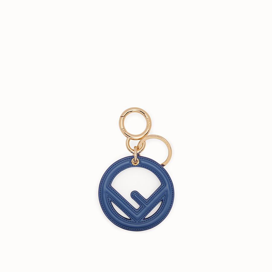 FENDI KEY RING - Blue leather key ring - view 1 detail
