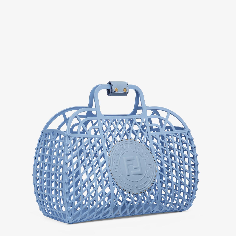 FENDI FENDI BASKET MEDIUM - Light blue recycled plastic mini-bag - view 3 detail