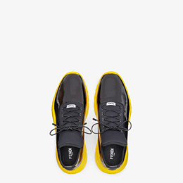 FENDI SNEAKERS - High-tops in black patent leather and fabric - view 4 thumbnail