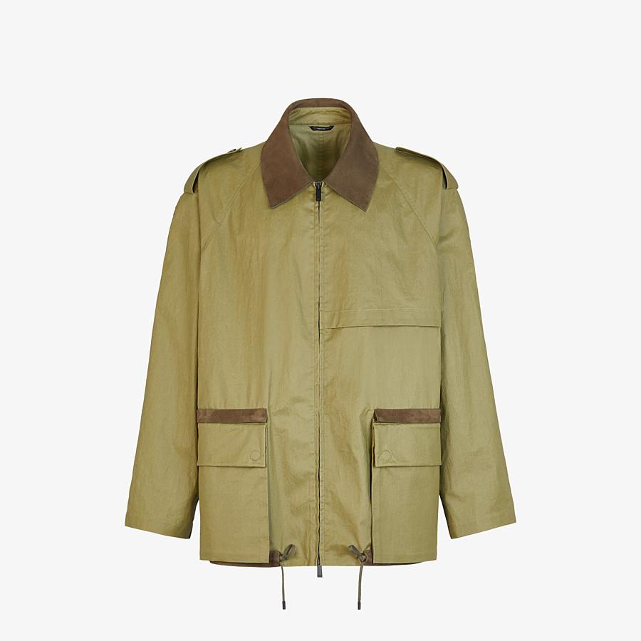 FENDI BLOUSON JACKET - Green cotton trench coat - view 1 detail