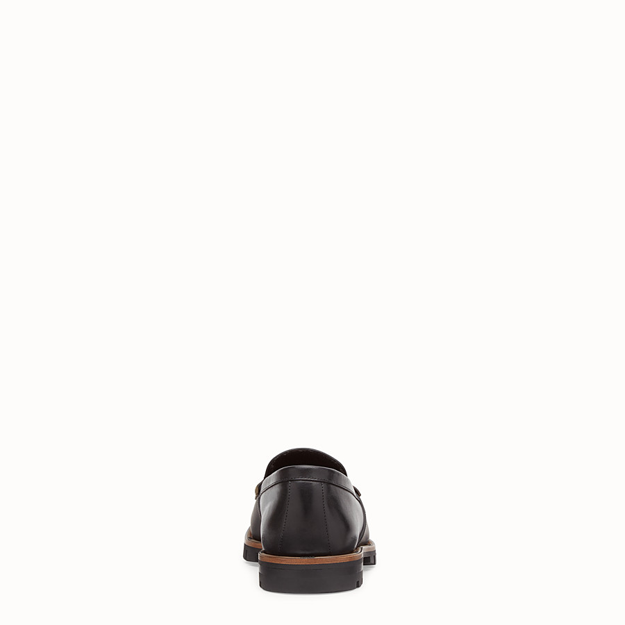FENDI LOAFERS - Black leather and TPU loafers - view 3 detail