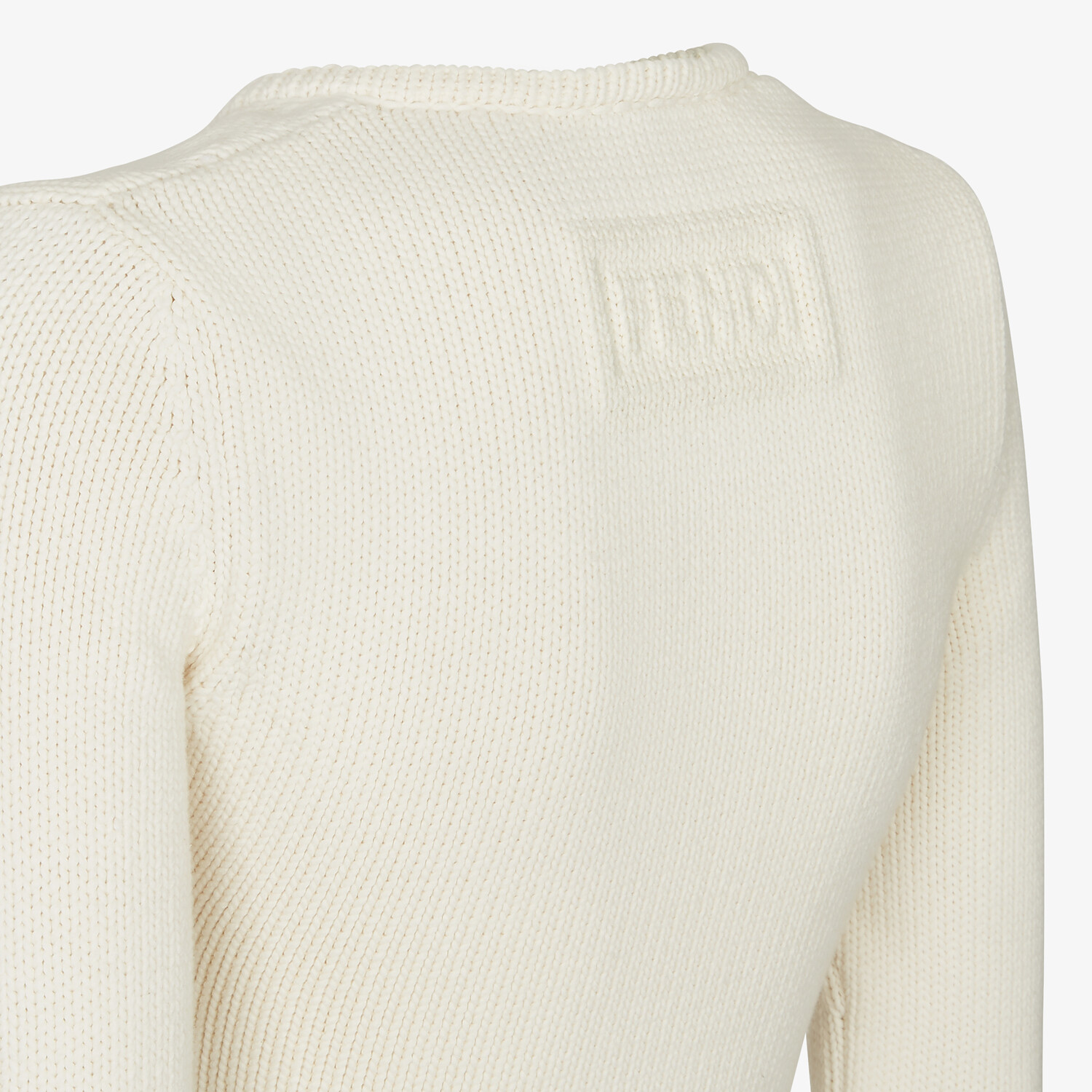 FENDI SWEATER - White cotton sweater - view 3 detail