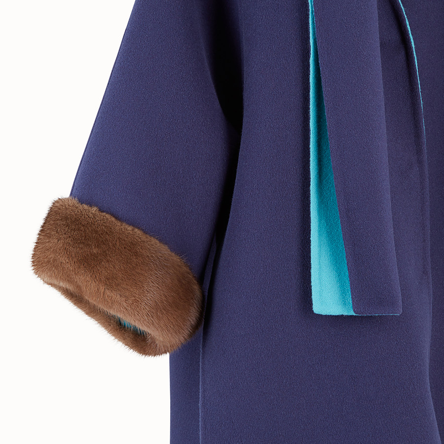 FENDI COAT - Multicoloured cashmere coat - view 3 detail