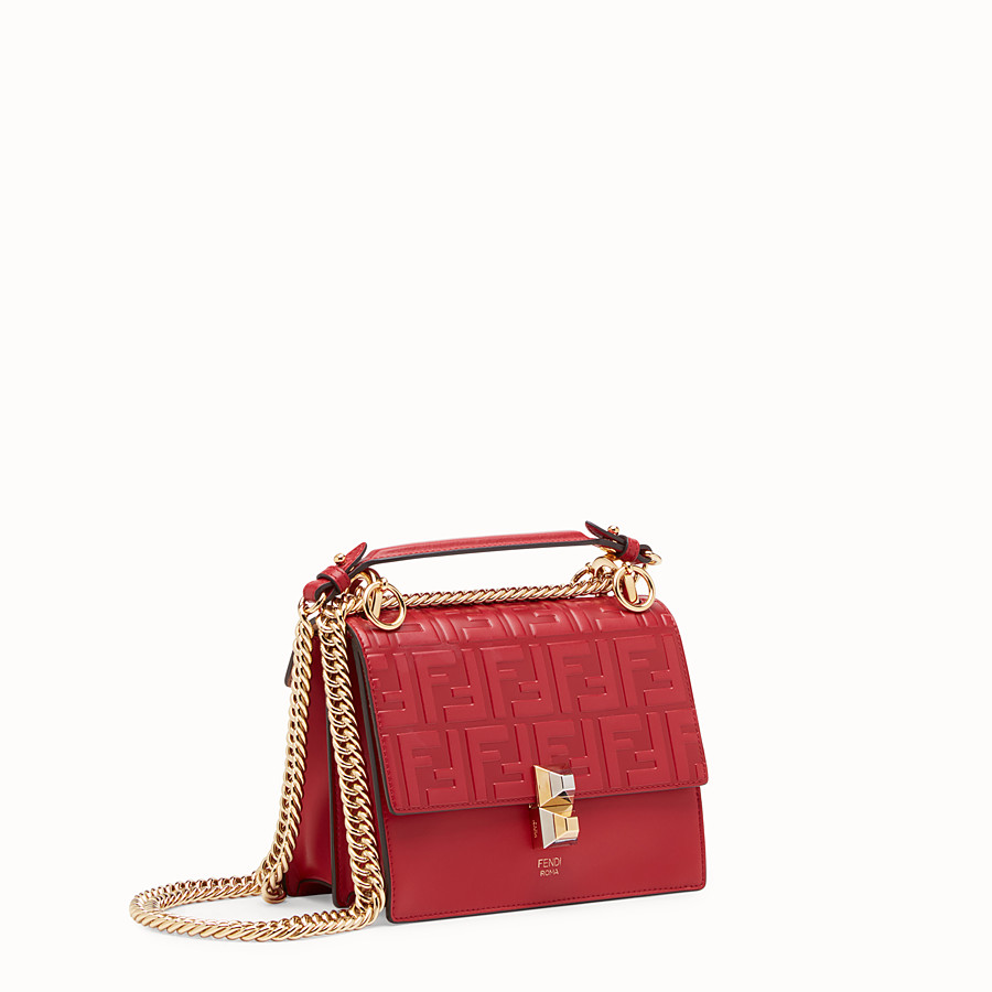 FENDI KAN I SMALL - Red leather mini-bag - view 2 detail
