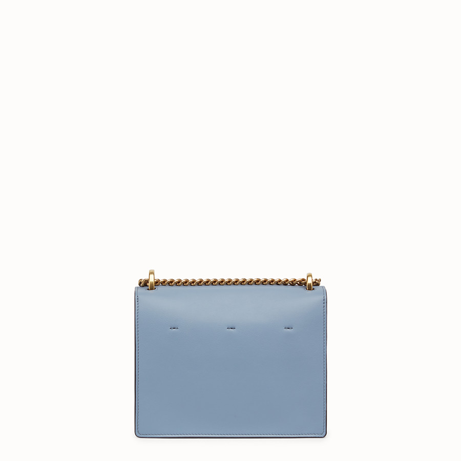 FENDI KAN U SMALL - Light blue leather mini-bag - view 4 detail