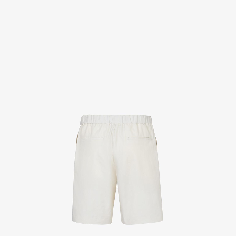 FENDI BERMUDAS - White cotton pants - view 2 detail