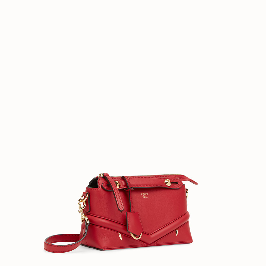 FENDI BY THE WAY MINI - Small red leather Boston bag - view 2 detail