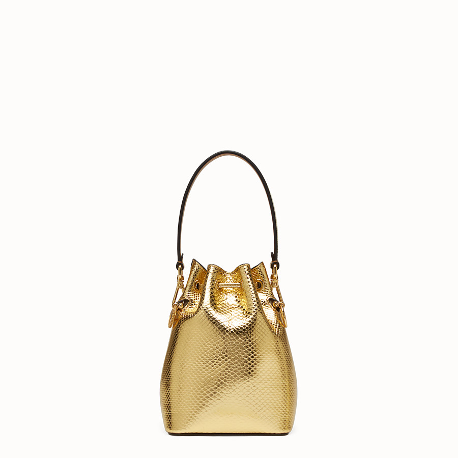 FENDI MON TRESOR - Gold coloured karung mini-bag - view 3 detail