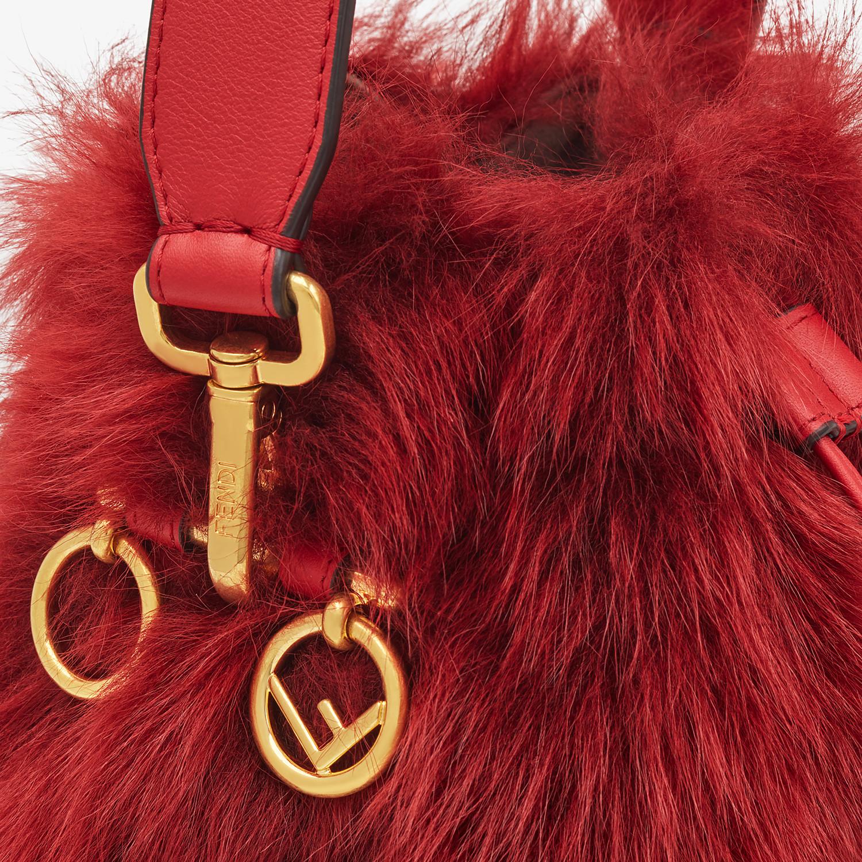 FENDI MON TRESOR - Minibag in montone rosso - vista 5 dettaglio