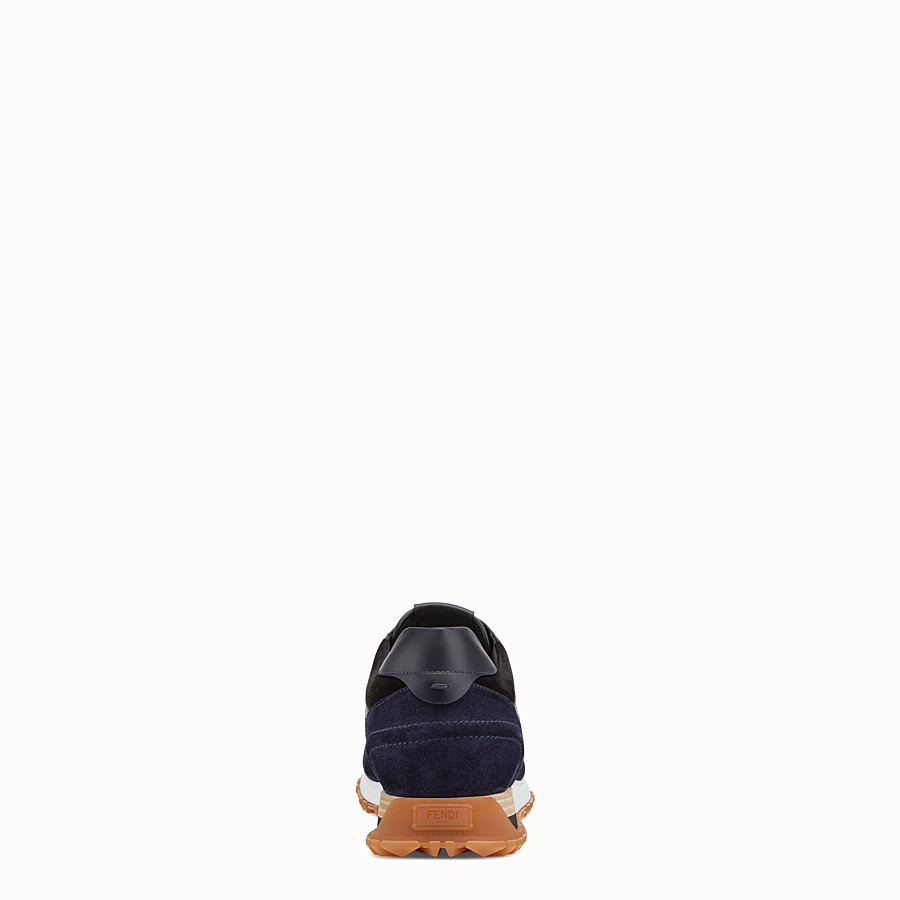 FENDI SNEAKERS - Chaussures basses en cuir multicolore - view 3 detail