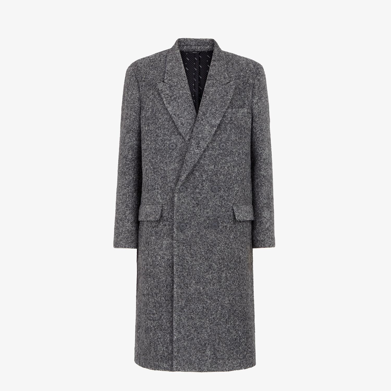 FENDI COAT - Gray alpaca coat - view 1 detail
