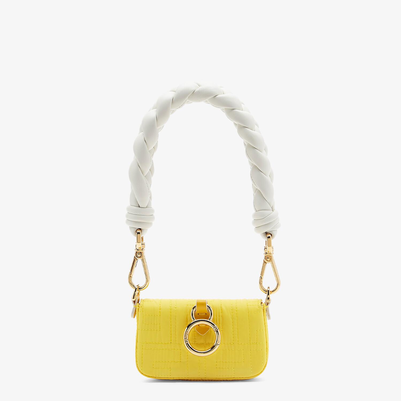 FENDI NANO BAGUETTE CHARM - Yellow nylon charm - view 3 detail