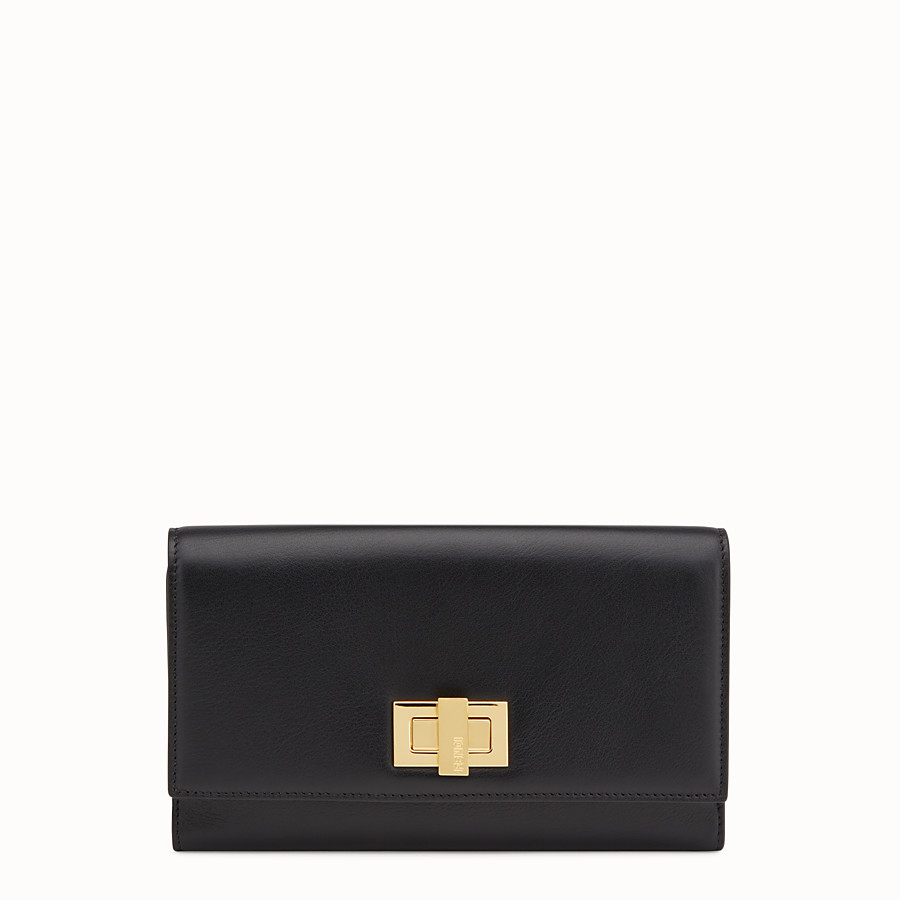 FENDI WALLET - in black leather - view 1 detail