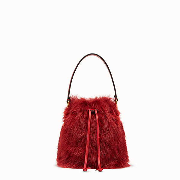 FENDI MON TRESOR - Mini sac en peau de mouton rouge - view 1 small thumbnail