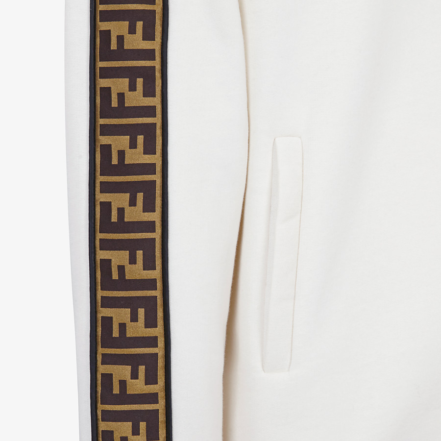 FENDI SWEATSHIRT - White cotton jersey sweatshirt - view 3 detail