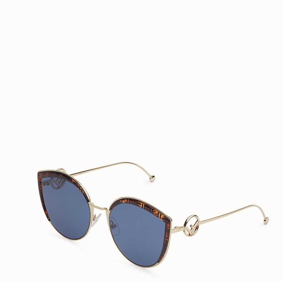 FENDI F IS FENDI - Gold-colored sunglasses - view 2 detail