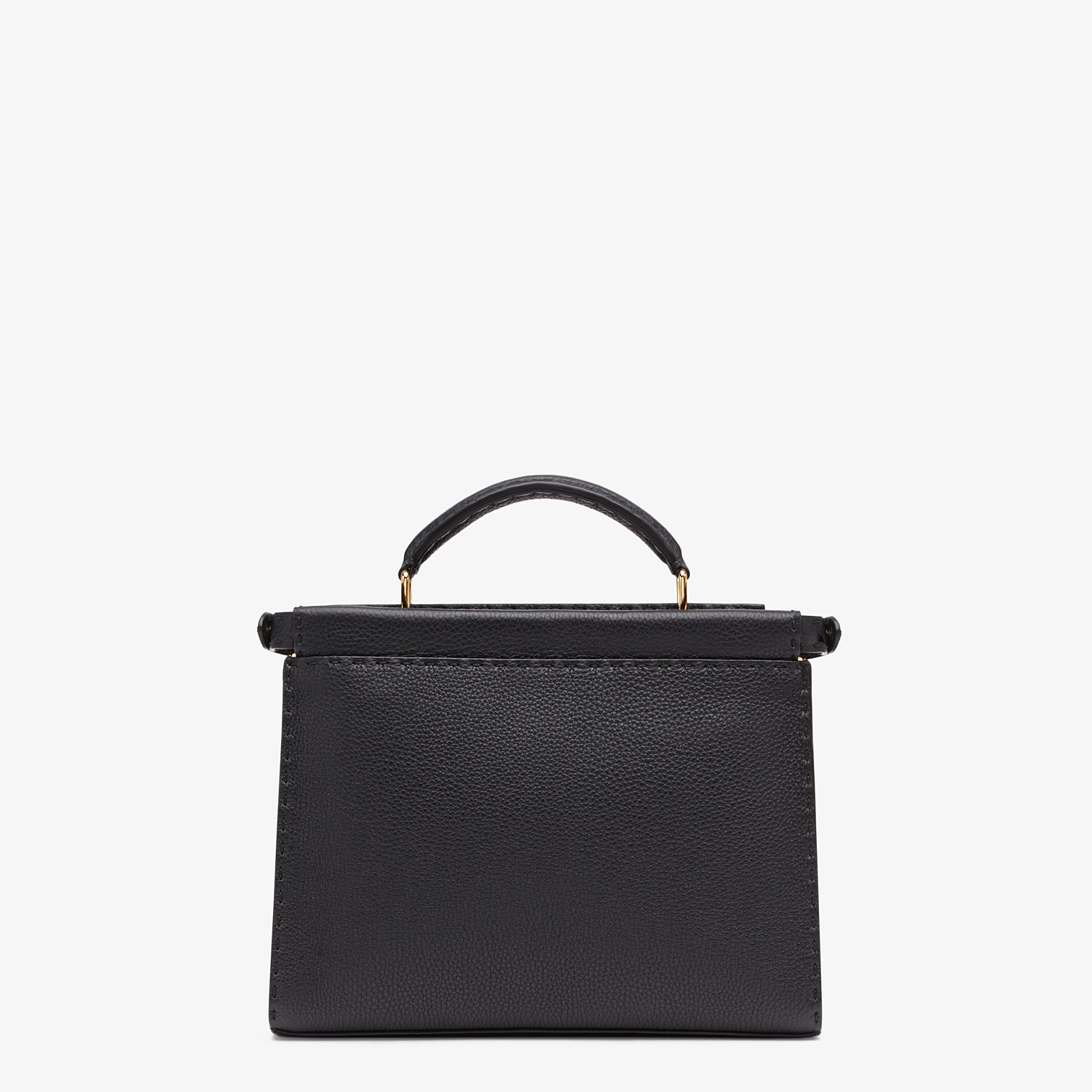 FENDI PEEKABOO ICONIC FIT MINI - Black leather bag - view 3 detail