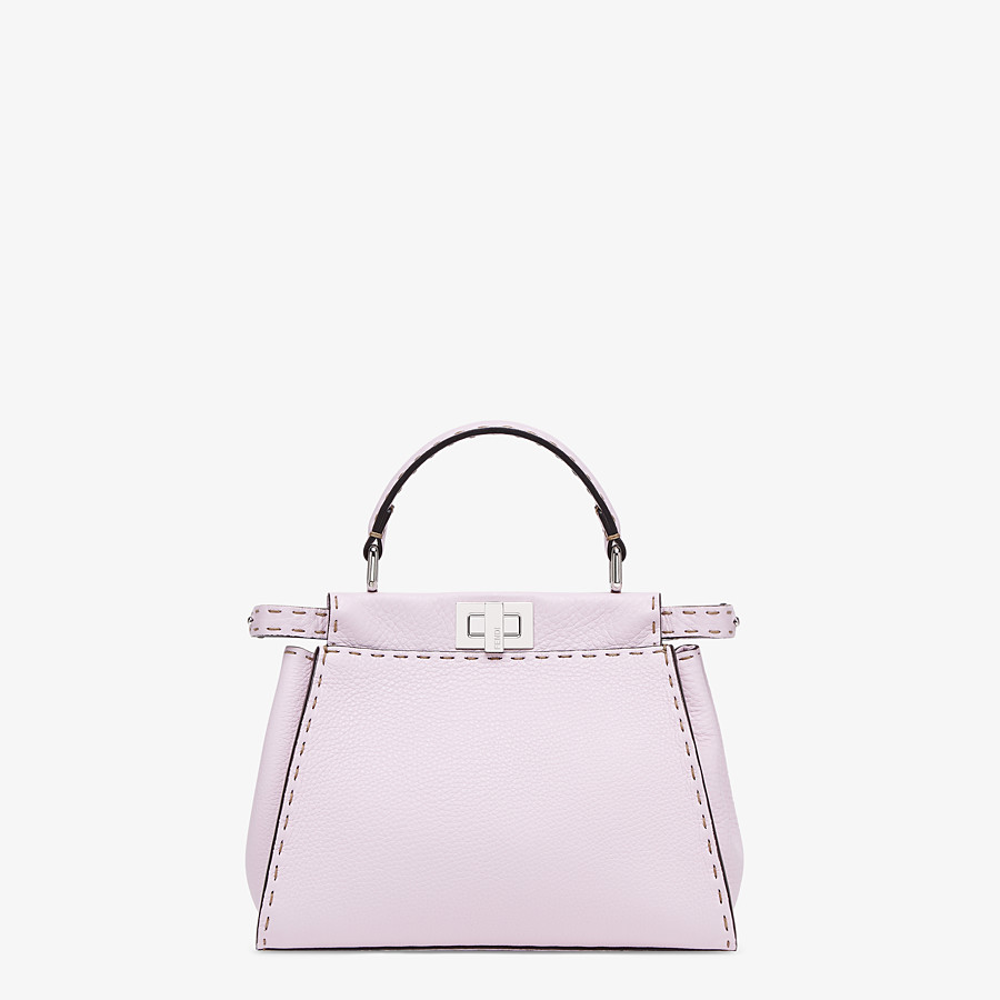 FENDI PEEKABOO ICONIC MINI - Lilac Cuoio Romano leather bag - view 1 detail
