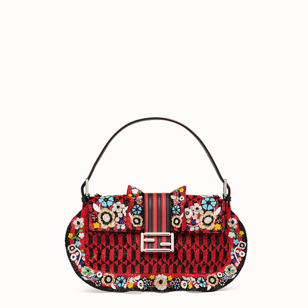 FENDI BAGUETTE - Embroidered shoulder bag with beads - view 1 small thumbnail
