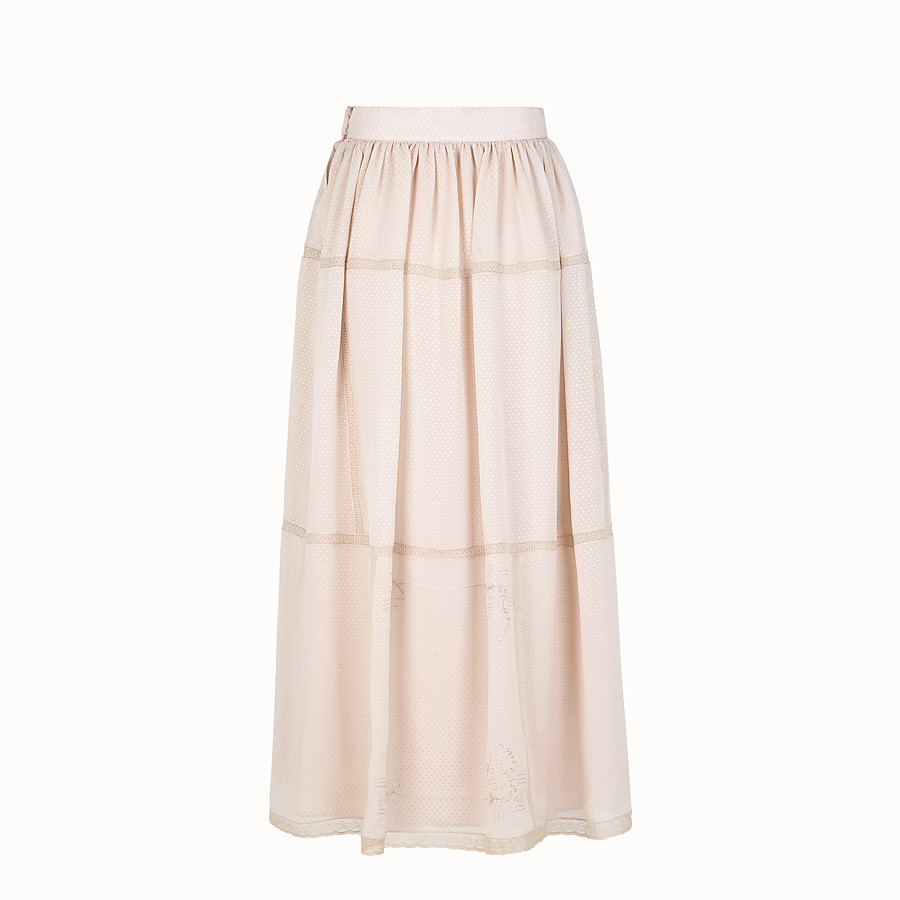 FENDI SKIRT - Pink cotton skirt - view 2 detail