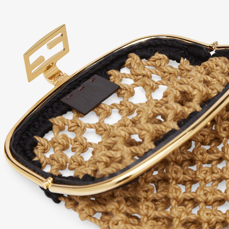 FENDI BAGUETTE PHONE BAG - Beige fabric mini-bag - view 4 detail