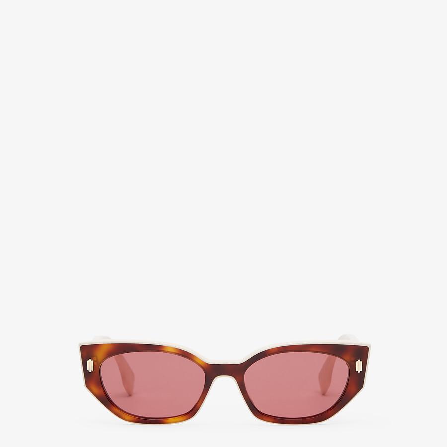 FENDI FENDI BOLD - Havana and creamy white acetate sunglasses - view 1 detail